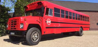 Partybus NRW mieten Roter Schulbus 40