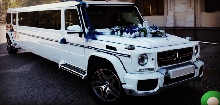 Limousine mieten Mercedes Benz G-Klasse in weiß